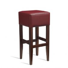 Vanna Heat Bar Stool Dark Walnut Red